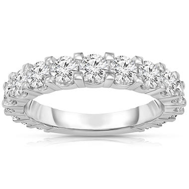 1.50 ct. t.w. 17-Stone Shared Prong Diamond Band in Platinum (H-I, I1)