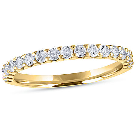 0.50 CT. T.W. 17-Stone Shared-Prong Diamond Band in 14K Yellow Gold (H-I, I1)