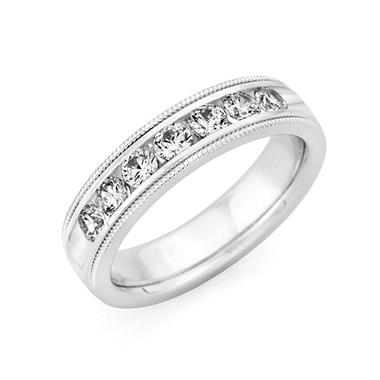 1.5 CT. T.W. Men's Diamond Wedding Band (Assorted Colors)