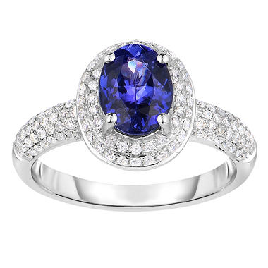 round tanzanite baguette diamond free oval ring collection james jf