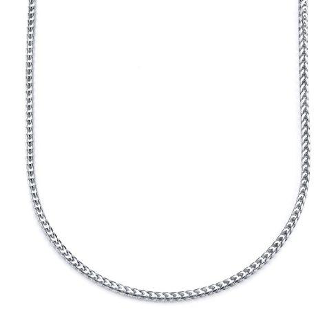 """24"""" Men's Franco Chain in Sterling Silver"""