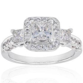 1.55 CT. T.W. Diamond Ring in 14k White Gold (H-I, I1)