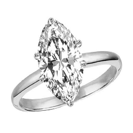 2.06 ct. Marquise-Cut Diamond Solitaire Ring (G, SI1)