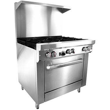 Gusto Restaurant Range, Propane Gas (6 Burners, 36