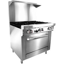 "Gusto Restaurant Range, Natural Gas (6 Burners, 36"")"