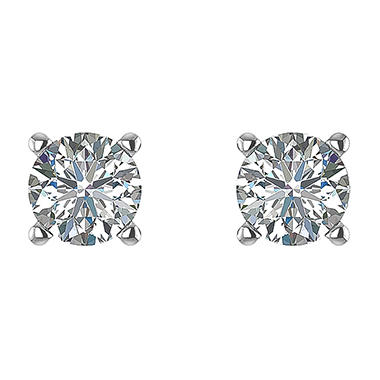 0.96 ct. t.w. Round-Cut Diamond Stud Earrings in 14k White Gold (H-I, SI2)