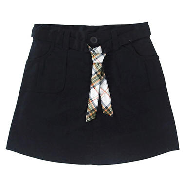 Eddie Bauer Girls School Uniform Belted Skort