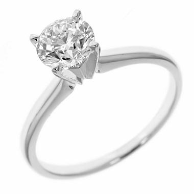 0.72 ct. Round-Cut Diamond Solitaire in 14k White Gold (H-I, SI2)
