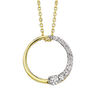 1 ct. t.w. Diamond Circle Journey Pendant (I, I1)