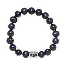 "Atlanta Falcons Freshwater Cultured Pearl 7.5"" Bracelet"