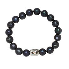 "Pittsburgh Steelers Freshwater Cultured Pearl 7.5"" Bracelet"