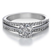 Premier Diamond Collection 1.41 CT. T.W. Round Brilliant Diamond Split Band Engagement Ring in 14K White Gold - IGI (G, I1)