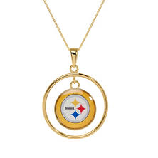 Pittsburgh Steelers Double Drop Gold Necklace