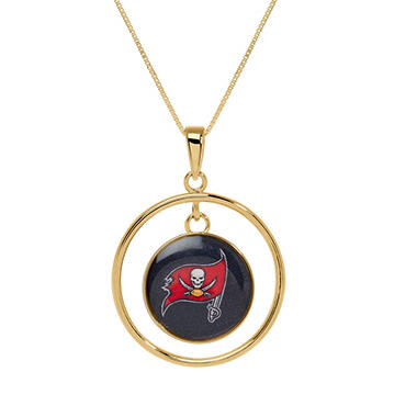 Tampa Bay Buccaneers Double Drop Gold Necklace