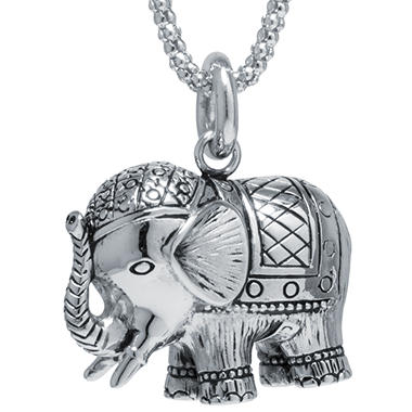 Sterling silver elephant necklace sams club sterling silver elephant necklace mozeypictures Image collections