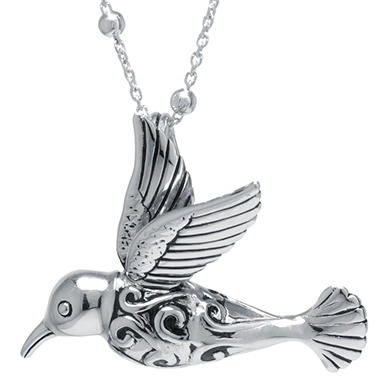 productdetail diamond hummingbird pendant largefront