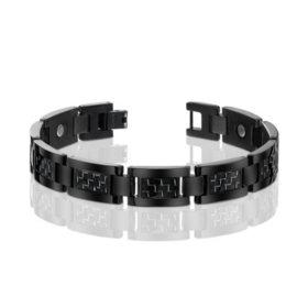 Men's Black Titanium with Black Carbon Fiber Bracelet