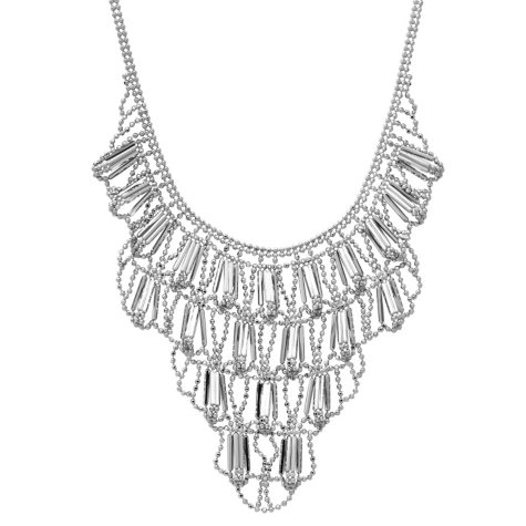 Chandelier Necklace and Earrings in Sterling Silver