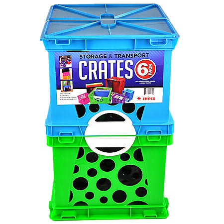Storex Storage Crates (6-Pack Combo)