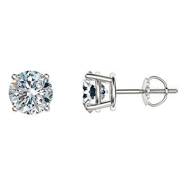 1.95 CT. T.W. Round Diamond Stud Earrings in 14k White or Yellow Gold (I, I1)