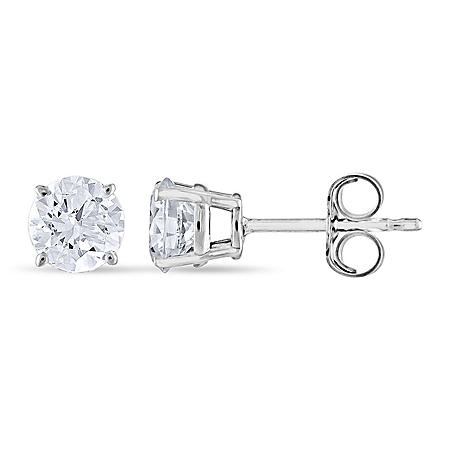 0.96 CT. T.W. Round Diamond Stud Earrings in 14K Gold (I, I1)