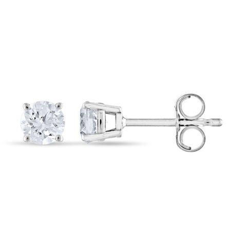 0.47 CT. T.W. Round Diamond Stud Earrings in 14K Gold (I, I1)