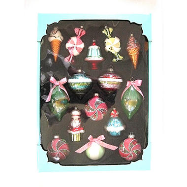 Glass Ornaments - Sweet Theme - 15 ct.