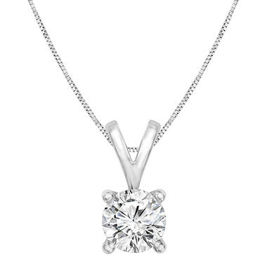 .96 CT. Round Solitaire Pendant in 14K Gold