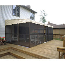 "PatioMate® Screen Enclosure- 11' 6"" x 19' 3"" - Almond"