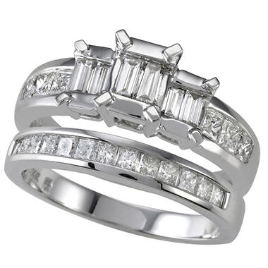 .95 ct. t.w. Diamond Engagement Ring Set (I, I1)