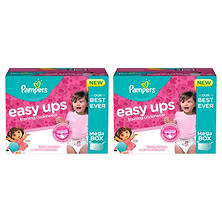 Pampers Easy Ups Training Pants for Girls Pick 2 Bundle (Choose Your Sizes)