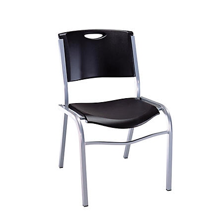 Lifetime Stacking Chair, Black, Choose a Quantity