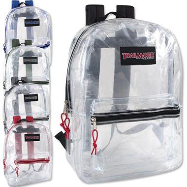 Trailmaker 17 Inch Clear Backpack - 24 Pack - Sam\'s Club