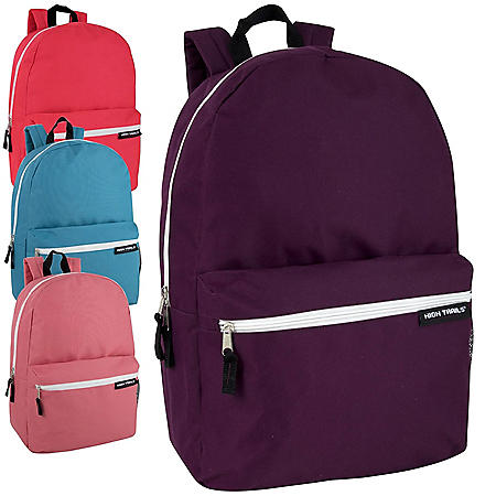 High Trails 19 Inch Backpack - Girl Colors - 24 Pack
