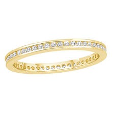 0.25 CT. TW. Round Cut Channel Set Eternity Band - 14K White or Yellow Gold