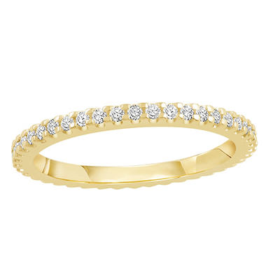 0.33 CT. TW. Round Cut Prong Set Eternity Band - 14K White or Yellow Gold