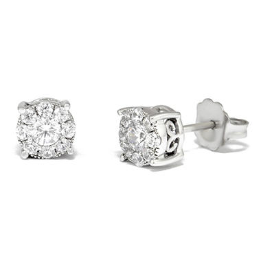 0.50 ct. t.w. Unity Diamond Stud Earrings in 14k White Gold I, I1