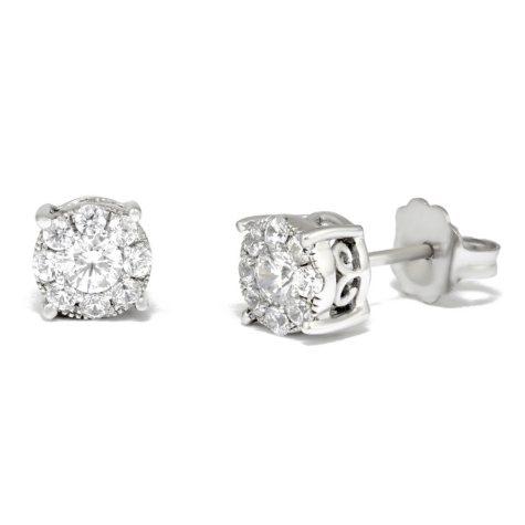 0.50 ct. t.w. Unity Diamond Stud Earrings in 14k White Gold I, I1