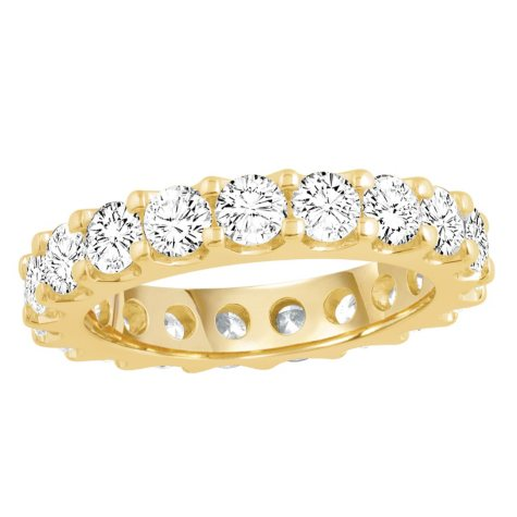 2.50 CT. TW. Round Cut Prong Set Eternity Band - 14K White or Yellow Gold