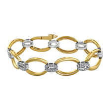 S Collection 0.75 CT. T.W. Diamond Link Bracelet in 14K Yellow Gold
