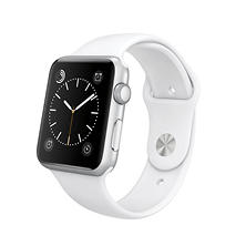 Apple Watch Sport  Series 1- 42mm Silver Aluminum Case - White Sport Band