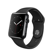 Apple Watch Series 1- 42mm Space Black Stainless Steel Case - Black Sport Band