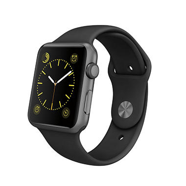 Apple Watch Sport  Series 1- 42mm Space Gray Aluminum Case - Black Sport Band