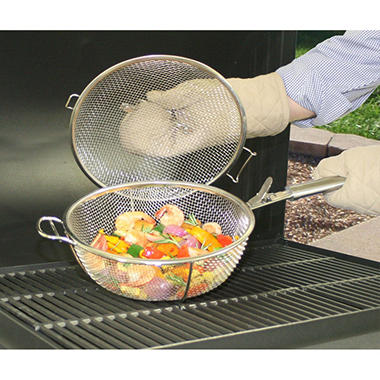 Member's Mark Mesh Grill Basket with Lid