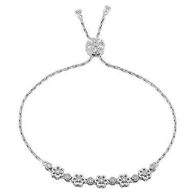 0.50 CT. T.W. Bolo Bracelet in 14K White Gold