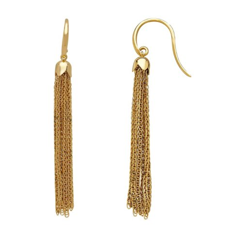 Italian Tassel Earrings in 14K Yellow Gold