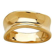Italian 14K Yellow Gold Concave Ring