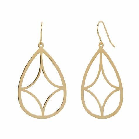 Tear Drop Earrings in 14K Yellow Gold