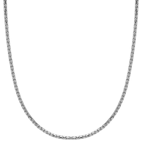 Italian 14K White Gold Adjustable Chain