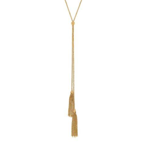 Italian 14K Yellow Gold Tassel Necklace